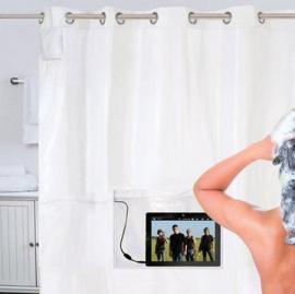 וילון מוזיקלי למקלחת
